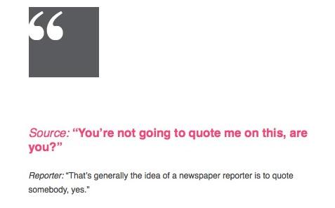 Overheard in newsroom quoting