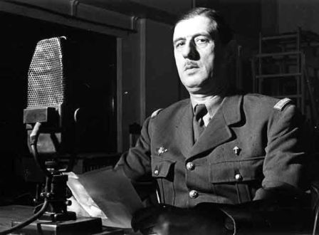 Charles de Gaulle microphone