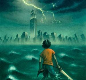 Percy Jackson book painting Lightning Thief