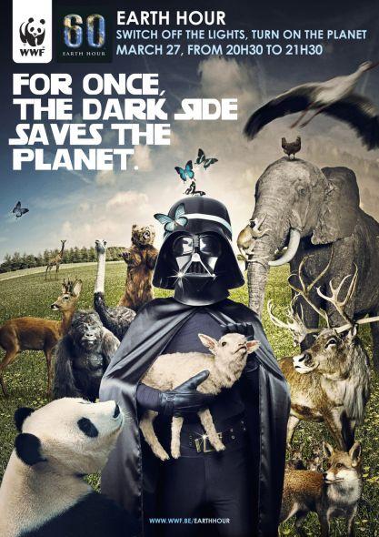 Darth Vader Earth Hour 2010 Belgium poster