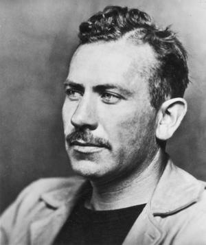 John Steinbeck black and white