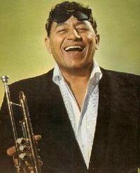 Louis Prima with trumpet