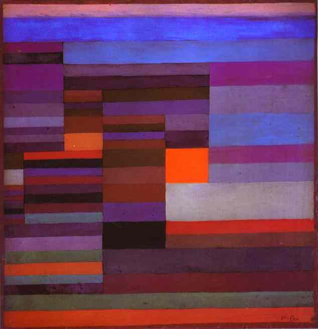 Paul Klee Fire in the Evening