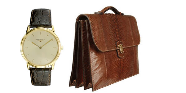 Watch and briefcase