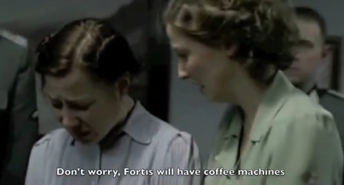 Fortis Hitler loses it coffee machines screengrab