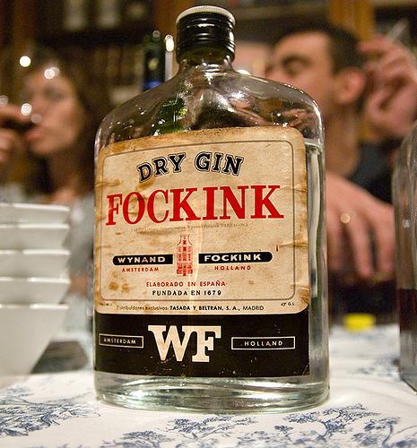 Focking dry gin