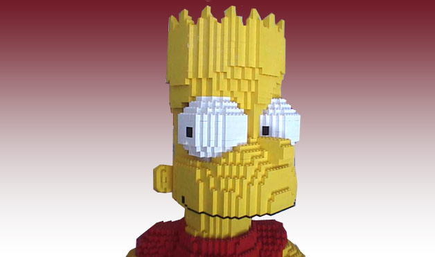 Bart Simpson Lego by Eric Harshbarger