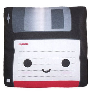 Floppy disc pillow