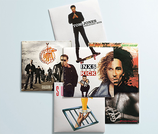 Album cover mix and match
