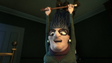 Granny O'Grimm raises a cane