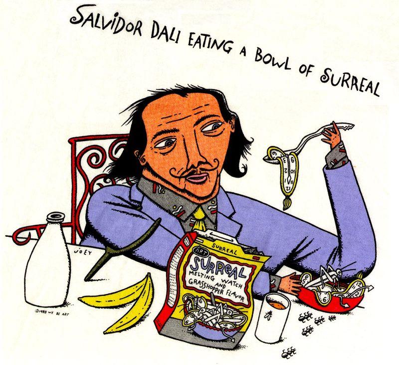Salvador Dali Eats a Bowl of Surreal