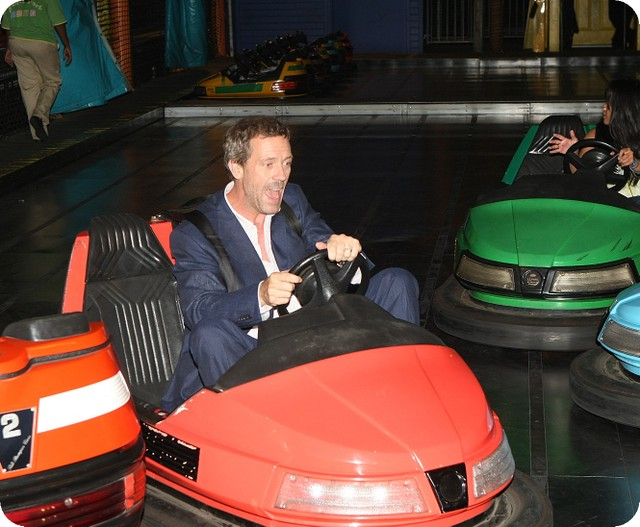 Hugh Laure in go carts