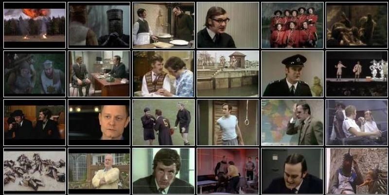 Still from Monty Python video wall