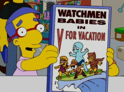 Watchmen babies comic book Simpsons