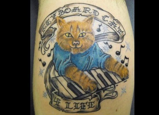 Tattoo of Piano cat