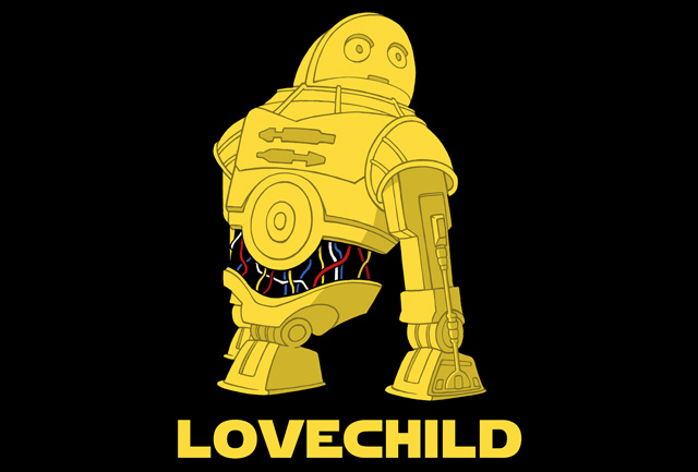 Lovechild tshirt teefury c3po r2d2