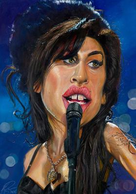 Amy Winehouse illustration by Derren Brown