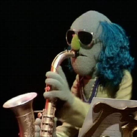 Zoot Muppets saxophone player