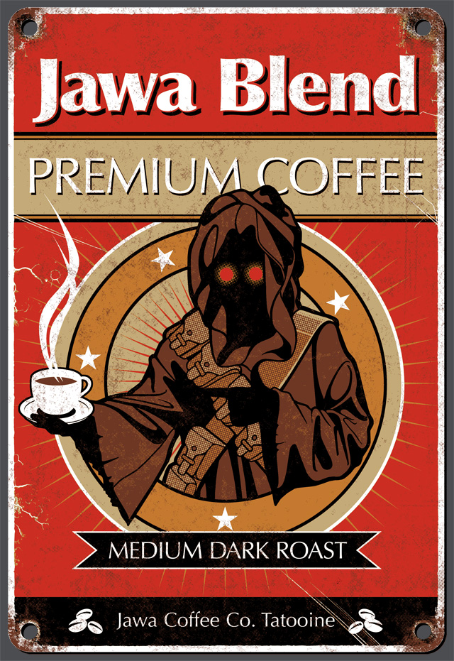 TeeFury Star Wars Jawa Coffee Best Served Hoth