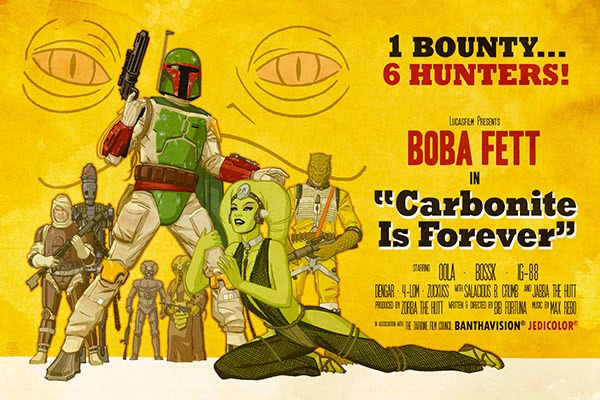 Carbonite is Forever Boba Fett Star Wars propaganda poster