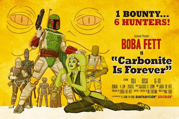 Carbonite is Forever Boba Fett Star Wars propaganda poster