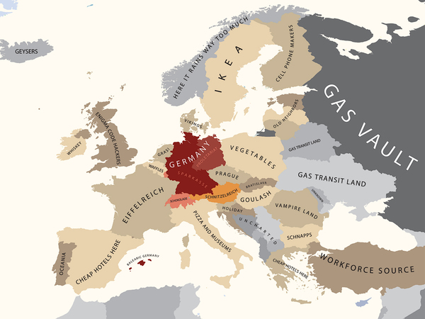 Europe as seen by Germany