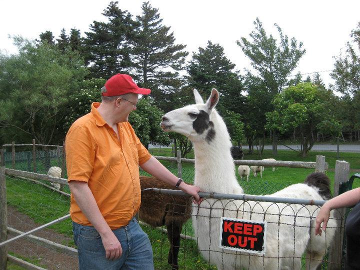 John and Wally the llama