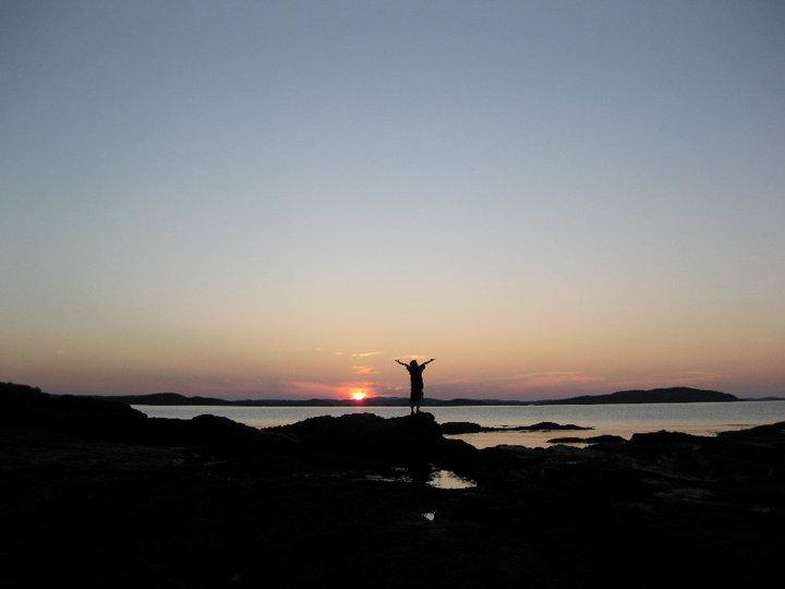 Nick Eastport sunset August 2010