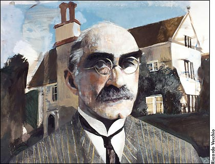 Rudyard Kipling image for The Atlantic by Ricardo Vecchio