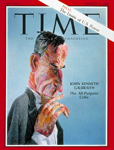 John Kenneth Galbraith on Time magazine