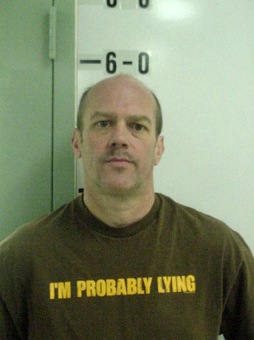 I'm Probably Lying Tshirt mugshot