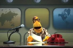 Muppet newsman