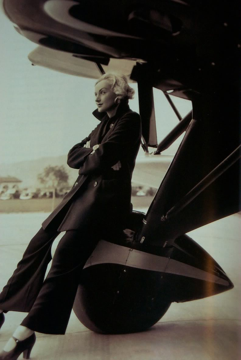 Carole Lombard by plane