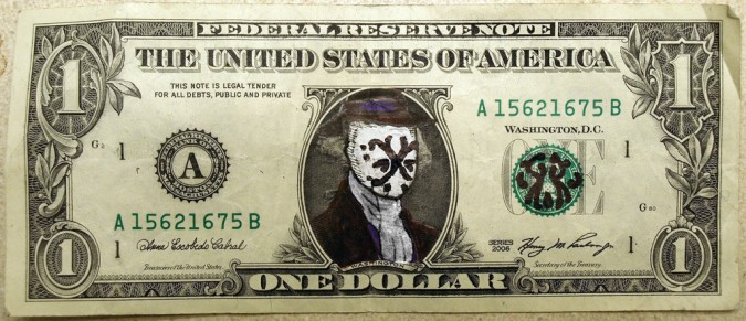 Rorshach dollar bill