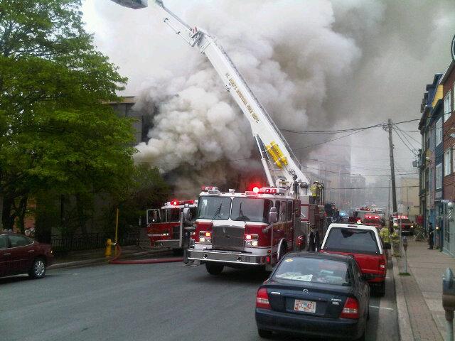 Duckworth Street fire June 12