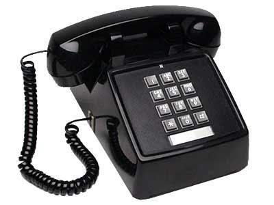 Telephone 1980s keypad black