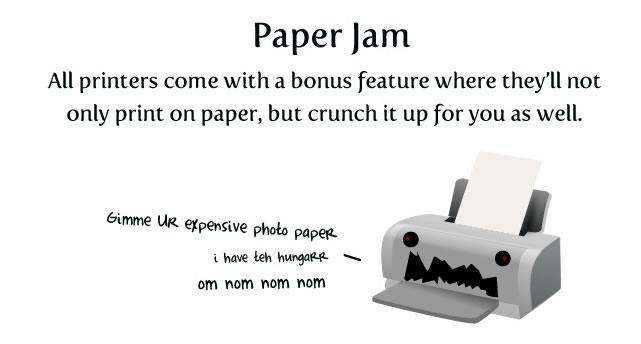 Oatmeal paper hell paper jam screengrab