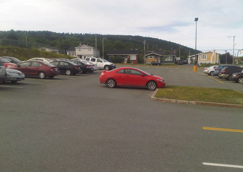 Bad parking Avalon Mall July 17 a