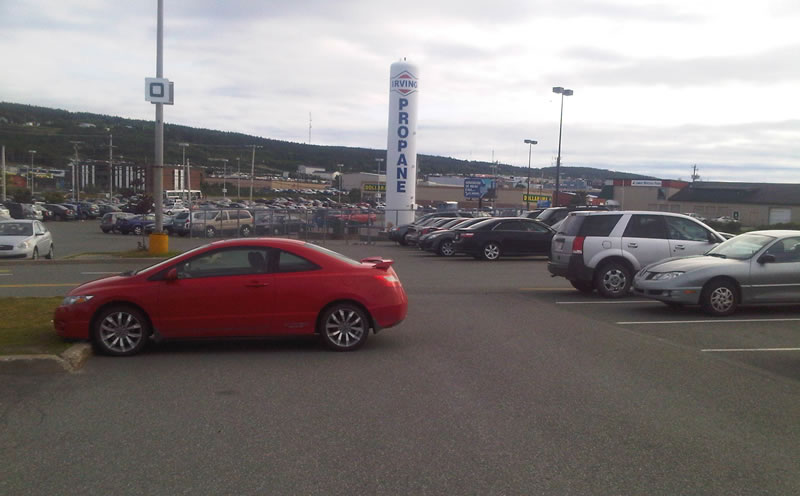 Bad parking Avalon Mall July 17 b
