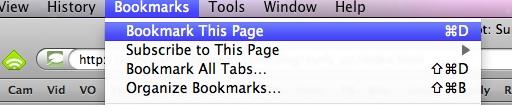 Bookmark this page screengrab