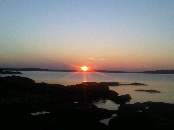 Sunset outside Salvage Newfoundland