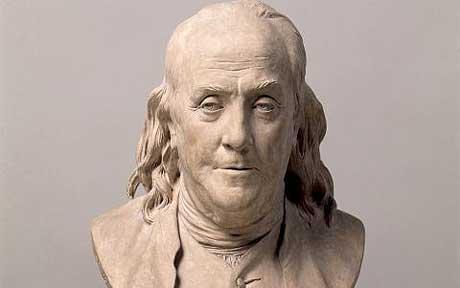 Benjamin Franklin bust statue