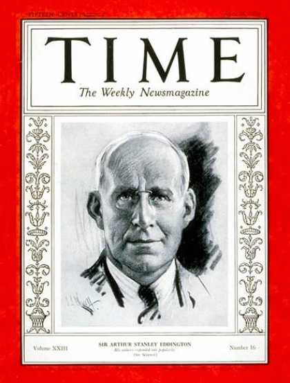 Arthur Eddington Time magazine