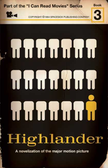 Highlander novel cover 1960s