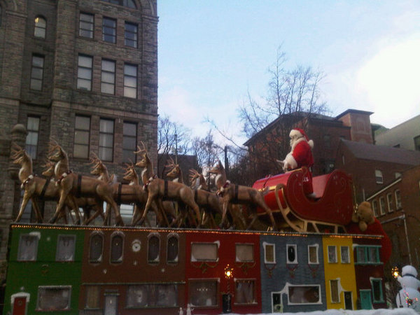 Santa Christmas parade downtown 2010