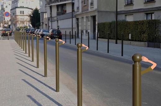 Sandrine Estrade Boulet saluting poles