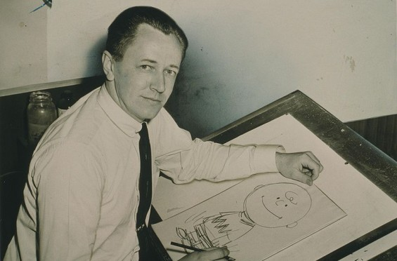 Charles Schultz bw Charlie Brown