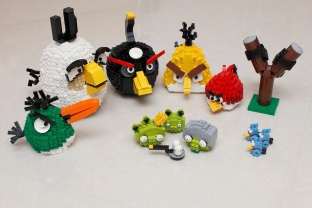 Angry Birds Lego from Mashable