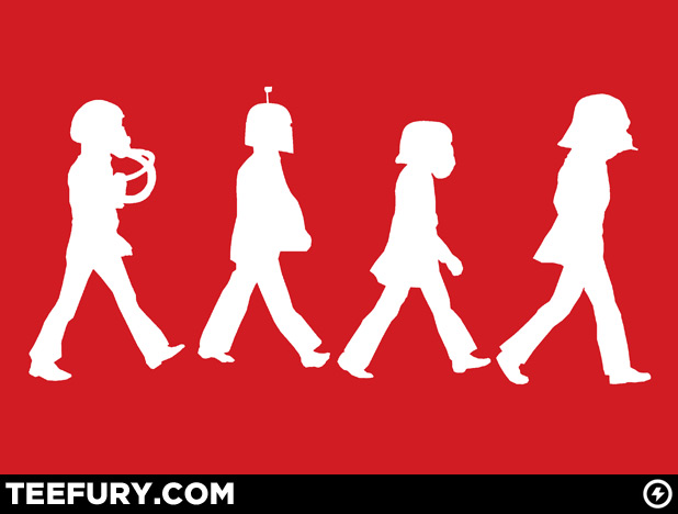 TeeFury Star Wars Abbey Road