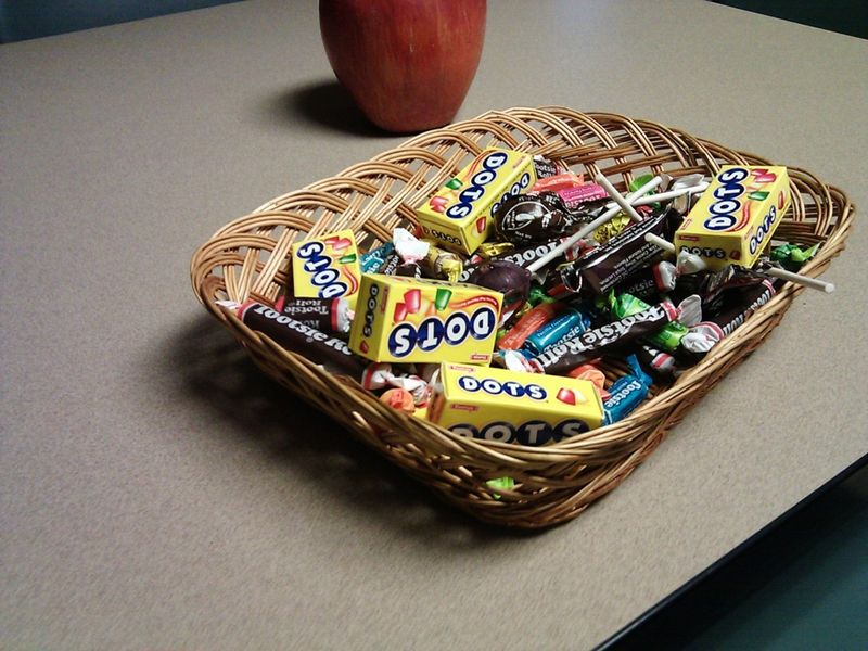 Candy basket from Break Room Diaries